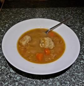 Dumplings in Soup - Kneidlach